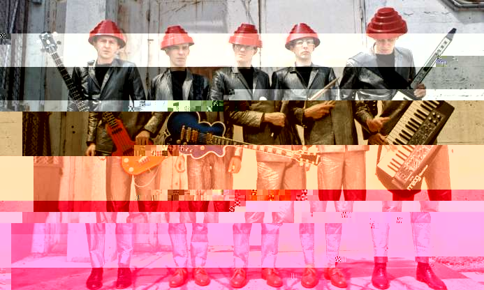 Devo Band Glitch Art
